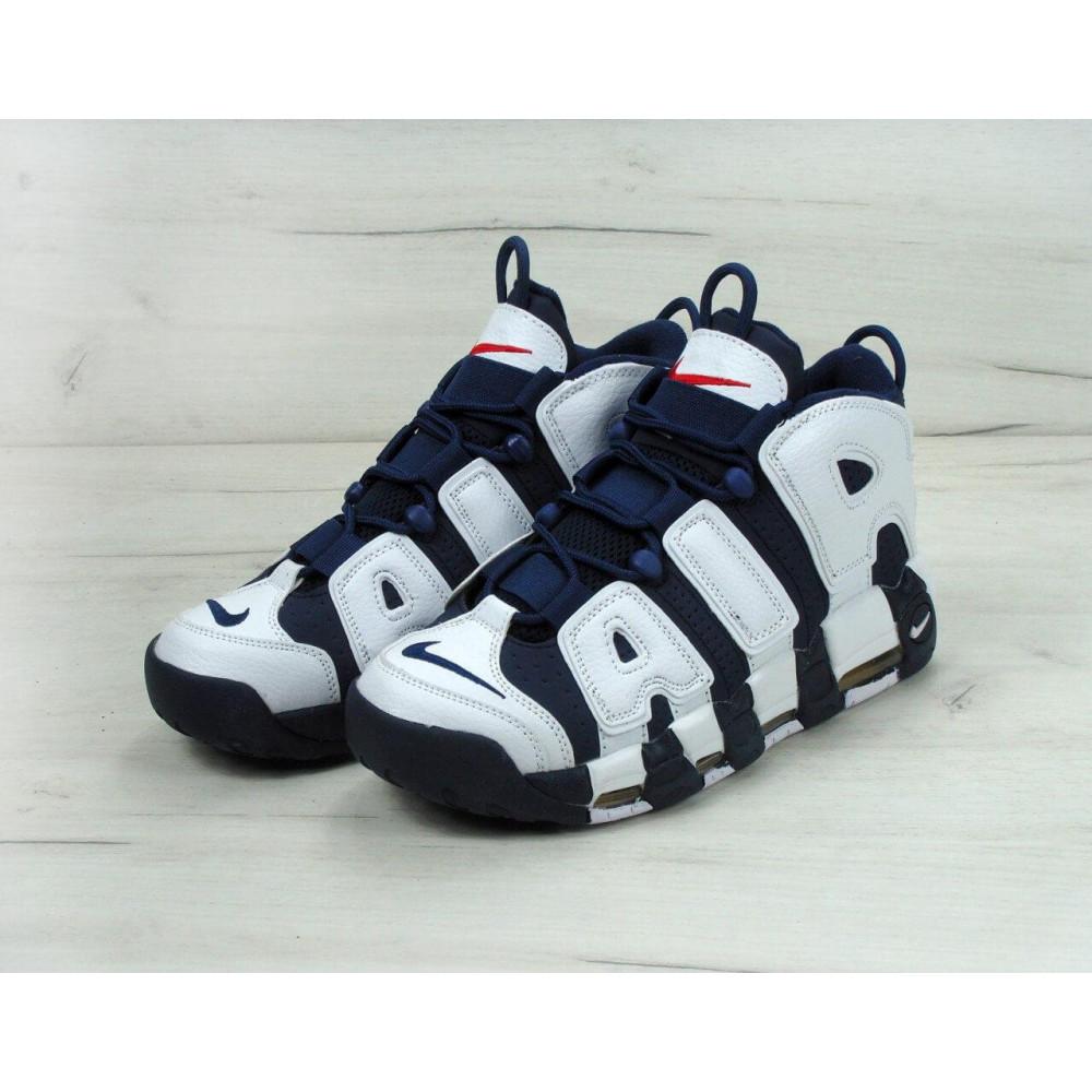 Демисезонные кроссовки мужские   - Мужские кроссовки Nike Air More Uptempo Olympic Navy Blue 4