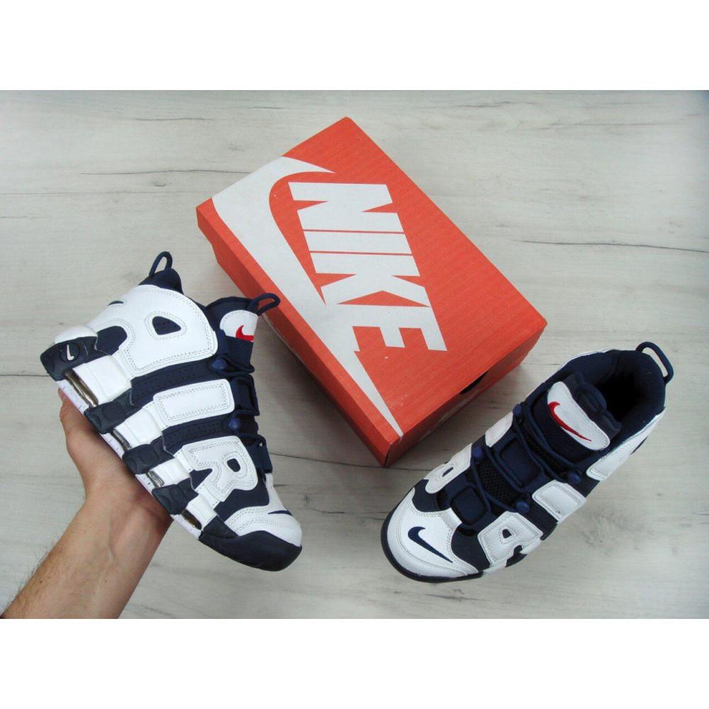 Демисезонные кроссовки мужские   - Мужские кроссовки Nike Air More Uptempo Olympic Navy Blue 2