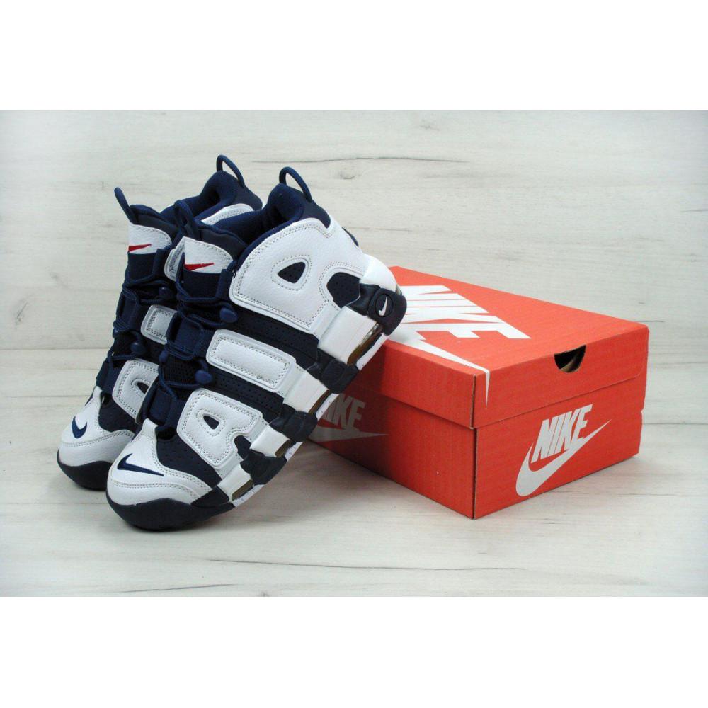 Демисезонные кроссовки мужские   - Мужские кроссовки Nike Air More Uptempo Olympic Navy Blue 1