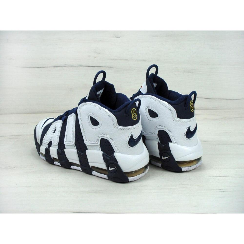 Демисезонные кроссовки мужские   - Мужские кроссовки Nike Air More Uptempo Olympic Navy Blue 3
