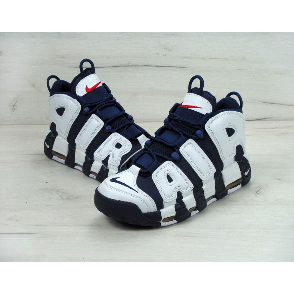 Демисезонные кроссовки мужские   - Мужские кроссовки Nike Air More Uptempo Olympic Navy Blue 5
