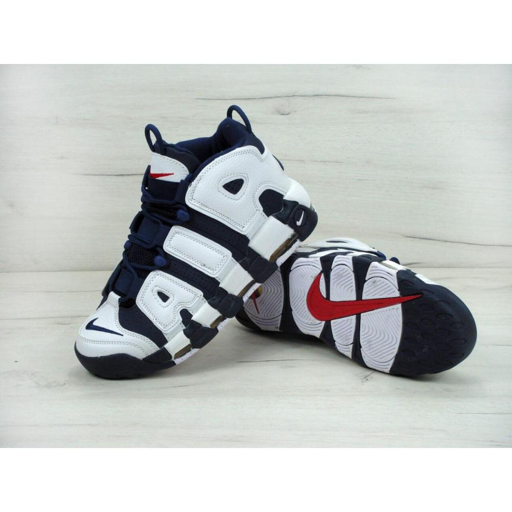 Демисезонные кроссовки мужские   - Мужские кроссовки Nike Air More Uptempo Olympic Navy Blue 6