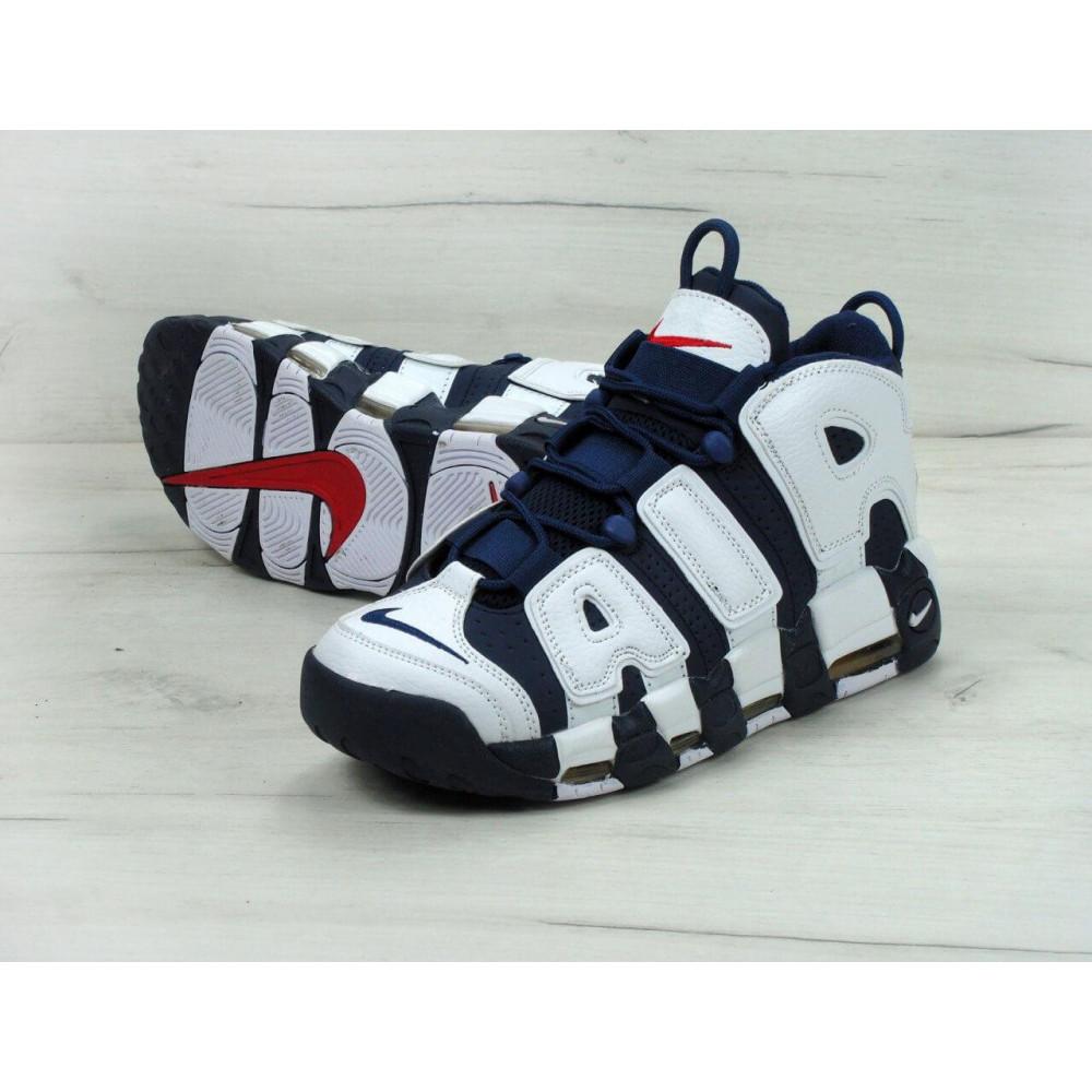 Демисезонные кроссовки мужские   - Мужские кроссовки Nike Air More Uptempo Olympic Navy Blue 7