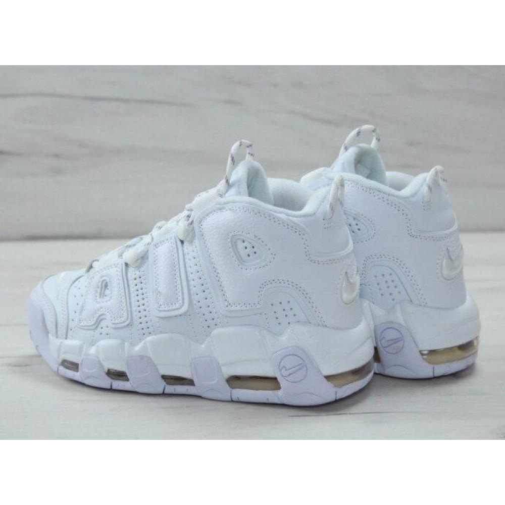 Кожаные кроссовки мужские - Белые кожаные кроссовки Air More Uptempo 6