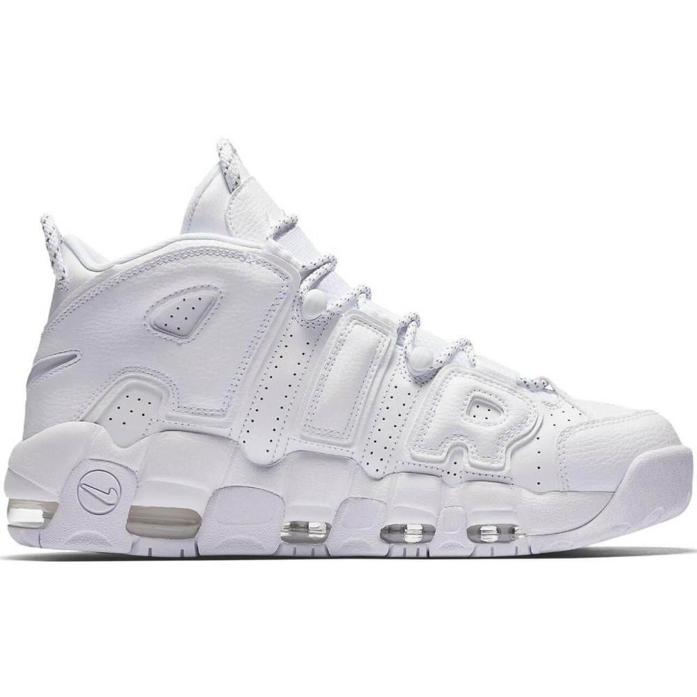 Кожаные кроссовки мужские - Белые кожаные кроссовки Air More Uptempo 7