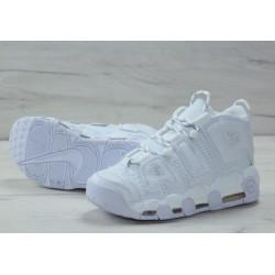 Белые кожаные кроссовки Air More Uptempo