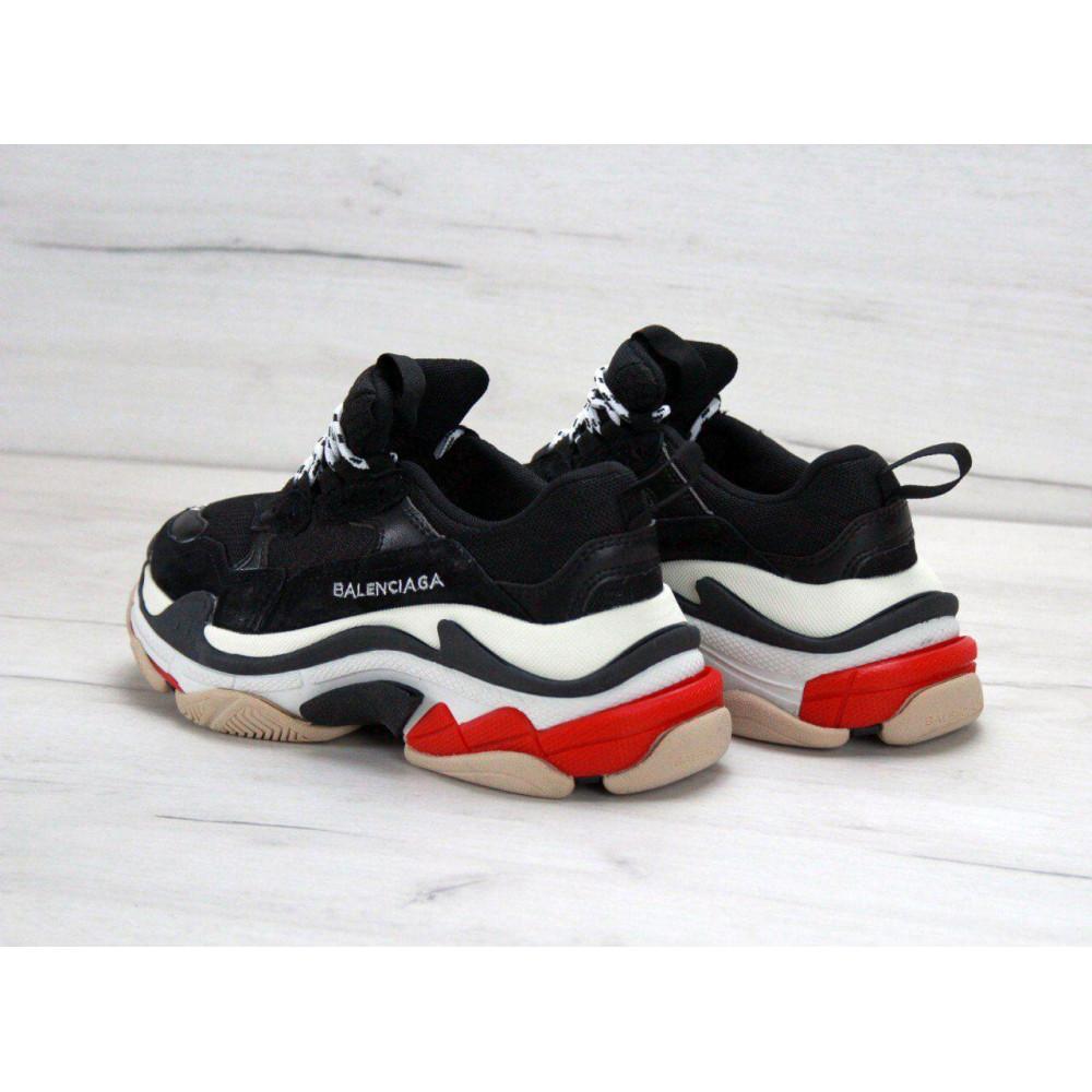 Демисезонные кроссовки мужские   - Мужские кроссовки Balenciaga Triple S Black Red 3