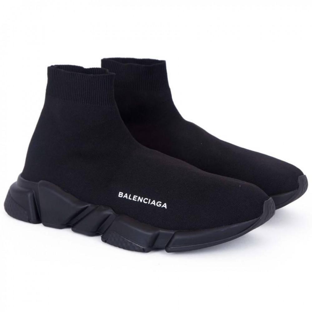 Беговые кроссовки мужские  - Кроссовки Balenciaga Speed Trainer All Black 6
