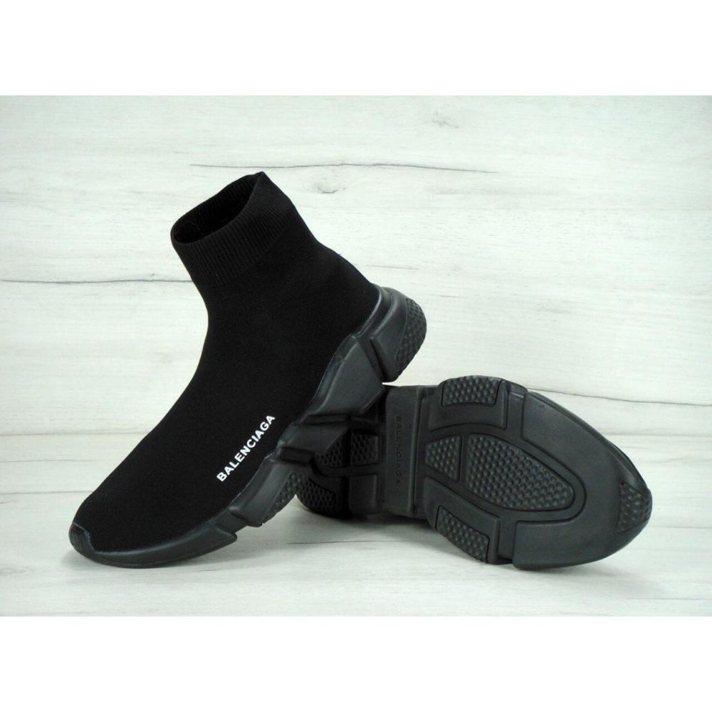 Беговые кроссовки мужские  - Кроссовки Balenciaga Speed Trainer All Black 1