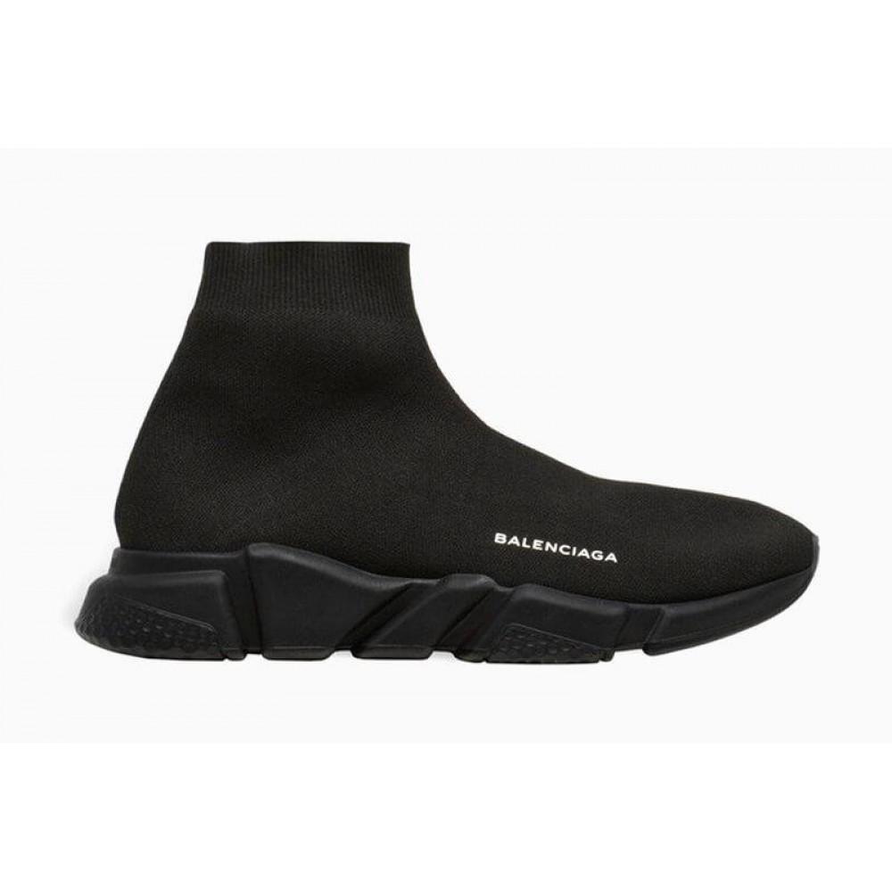 Беговые кроссовки мужские  - Кроссовки Balenciaga Speed Trainer All Black 5