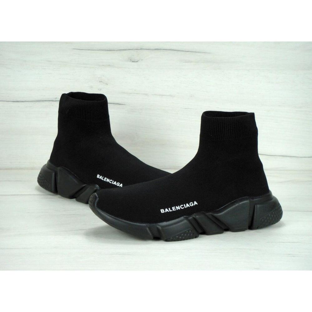 Беговые кроссовки мужские  - Кроссовки Balenciaga Speed Trainer All Black 2
