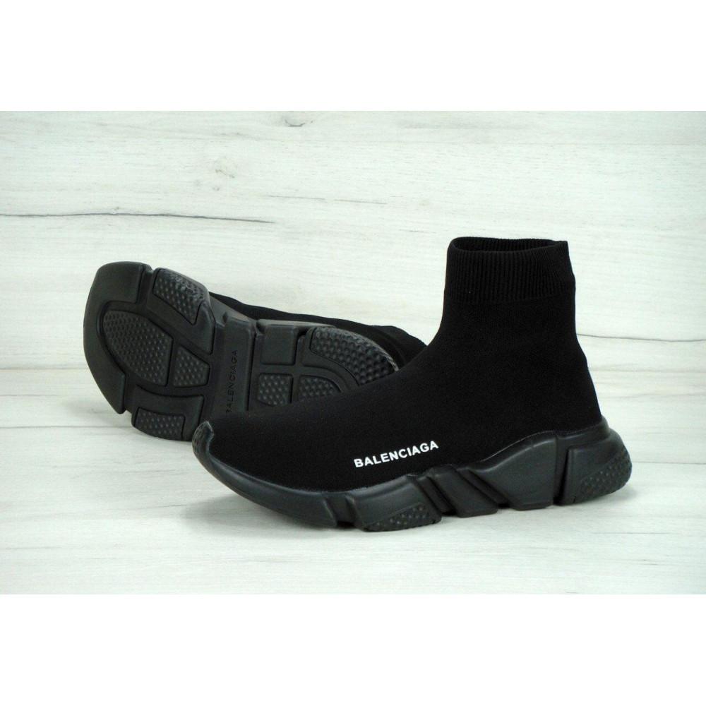 Беговые кроссовки мужские  - Кроссовки Balenciaga Speed Trainer All Black 3