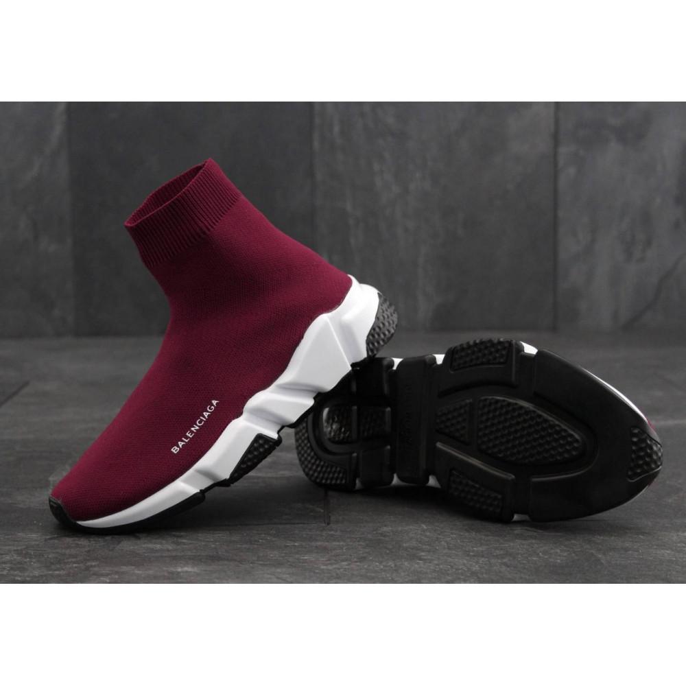 Летние кроссовки мужские - Кроссовки Balenciaga Speed Trainer Wine Red 1
