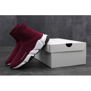 Кроссовки Balenciaga Speed Trainer Wine Red