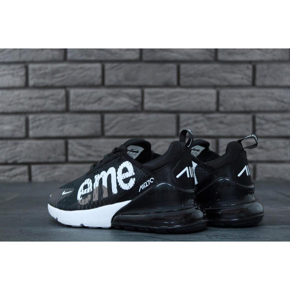Демисезонные кроссовки мужские   - Кроссовки Nike Air Max 270 Supreme Black White 6
