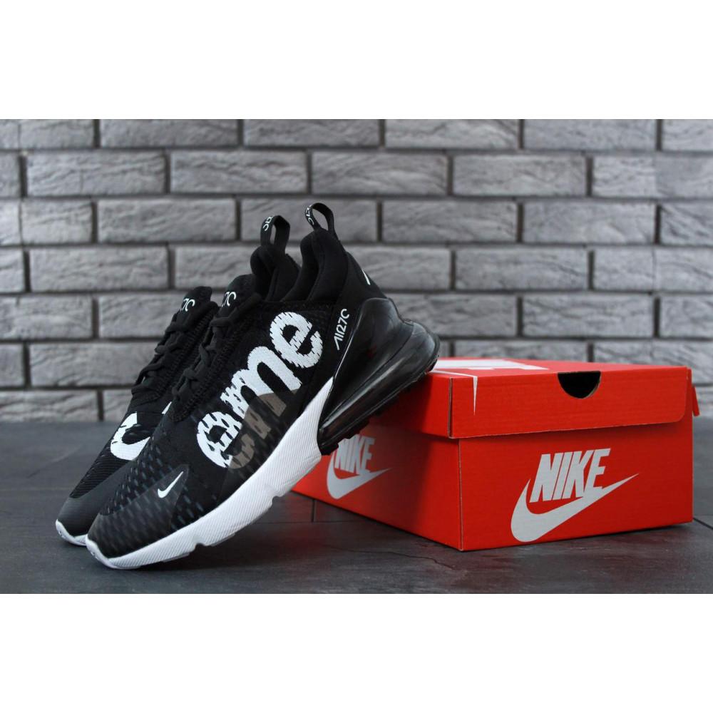 Демисезонные кроссовки мужские   - Кроссовки Nike Air Max 270 Supreme Black White