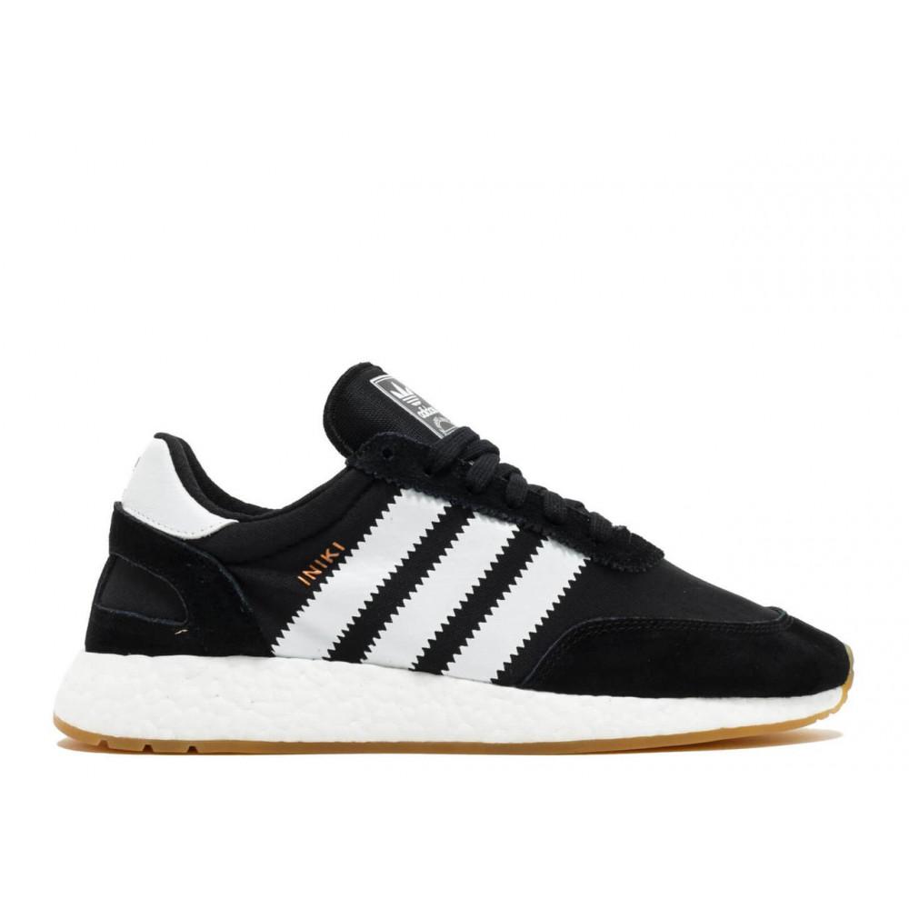 Беговые кроссовки мужские  - Черные кроссовки Adidas Iniki Runner 4