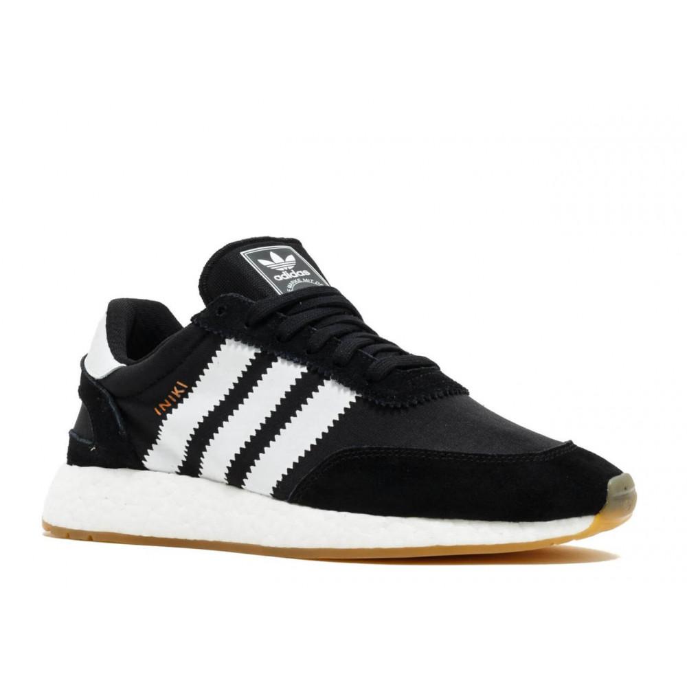 Беговые кроссовки мужские  - Черные кроссовки Adidas Iniki Runner 3