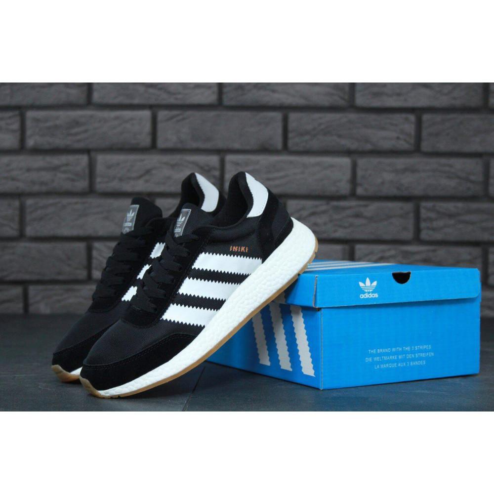 Беговые кроссовки мужские  - Черные кроссовки Adidas Iniki Runner