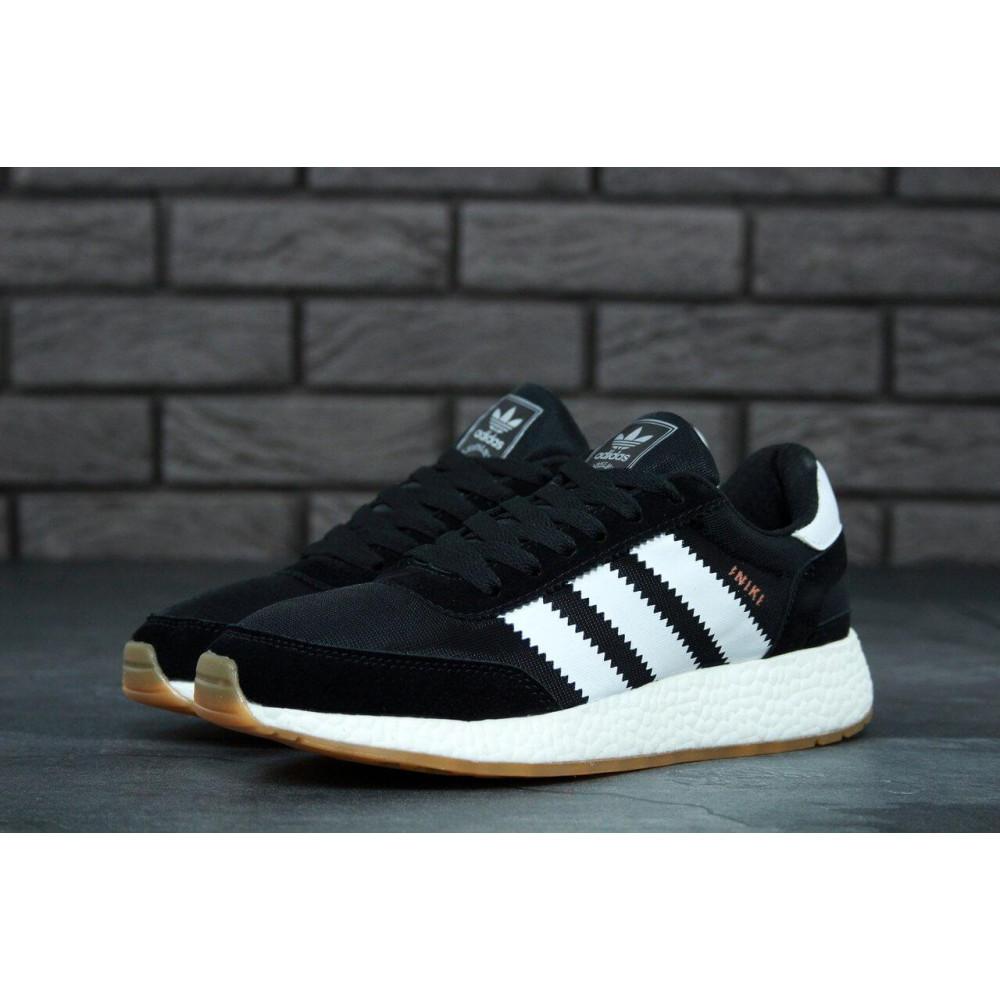 Беговые кроссовки мужские  - Черные кроссовки Adidas Iniki Runner 8