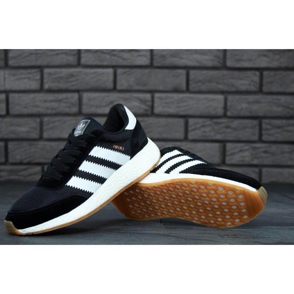 Беговые кроссовки мужские  - Черные кроссовки Adidas Iniki Runner 9
