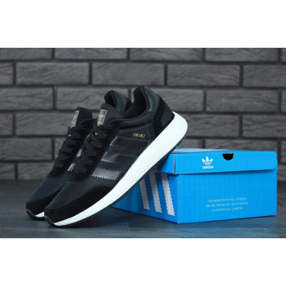 Беговые кроссовки мужские  - Кроссовки Adidas Iniki Black