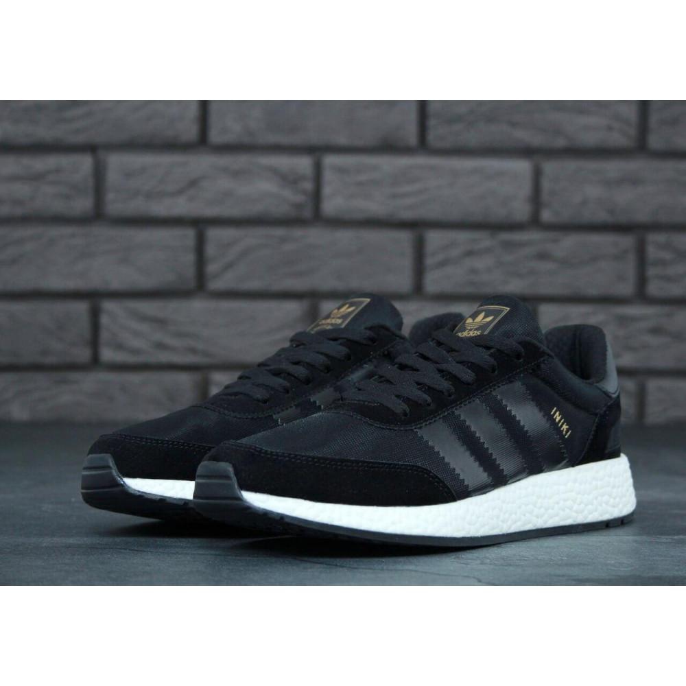 Беговые кроссовки мужские  - Кроссовки Adidas Iniki Black 1
