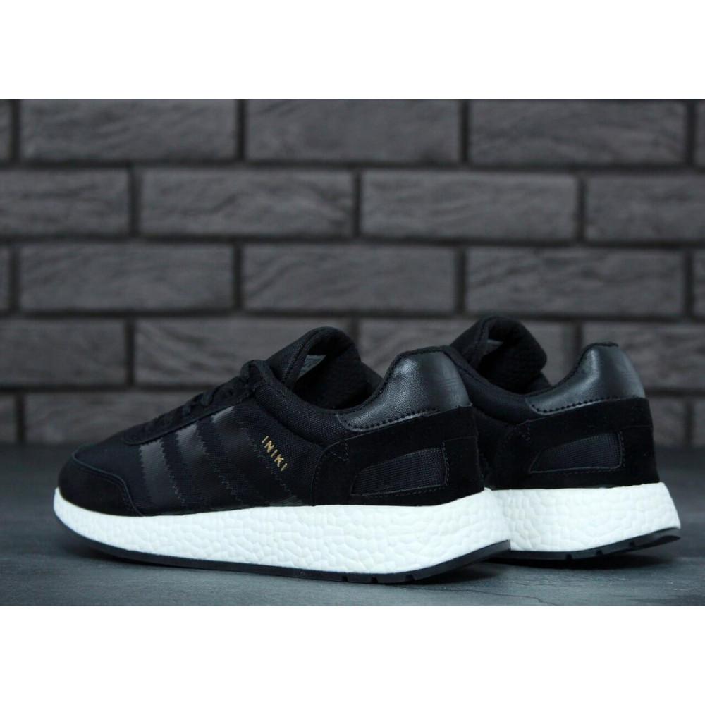 Беговые кроссовки мужские  - Кроссовки Adidas Iniki Black 2