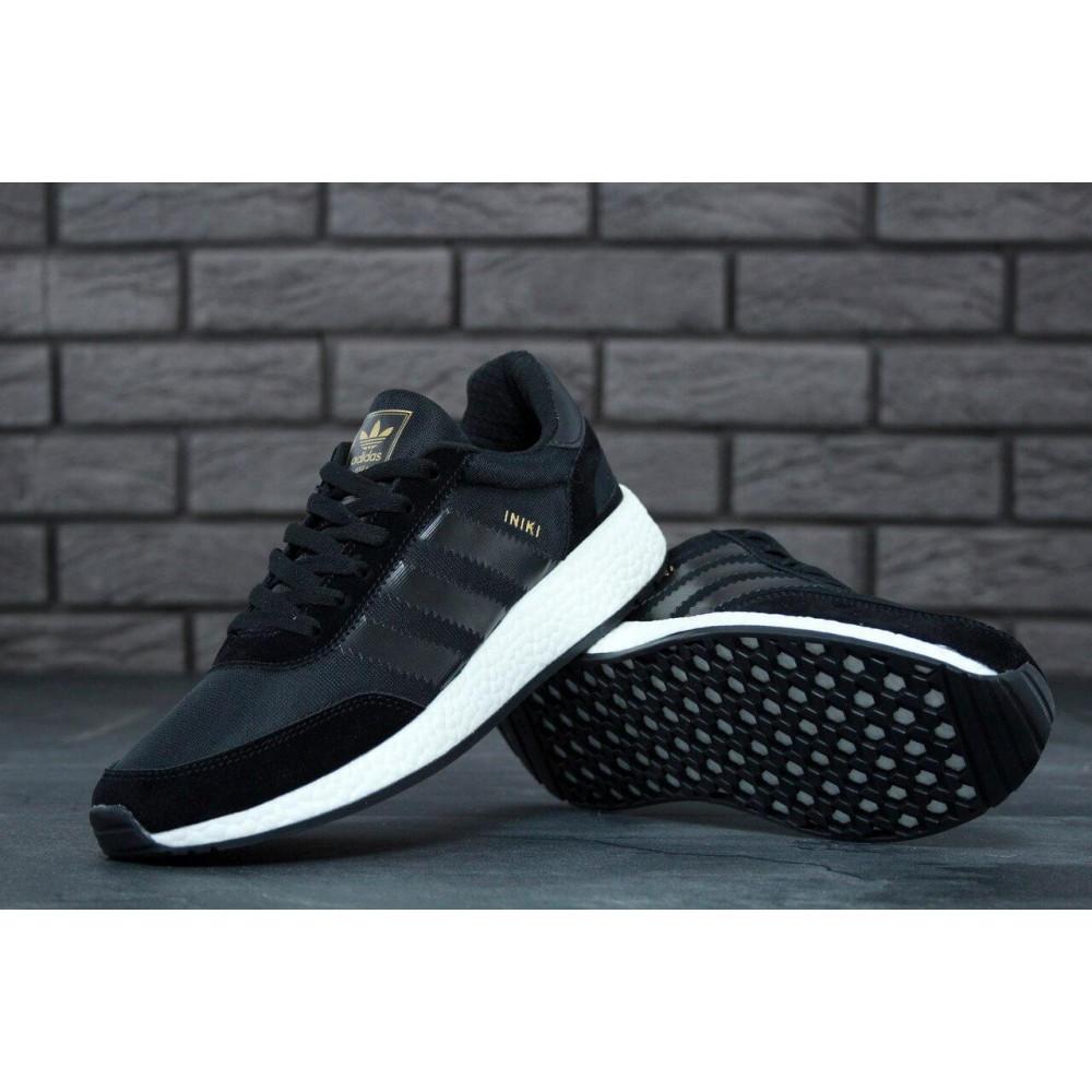 Беговые кроссовки мужские  - Кроссовки Adidas Iniki Black 3