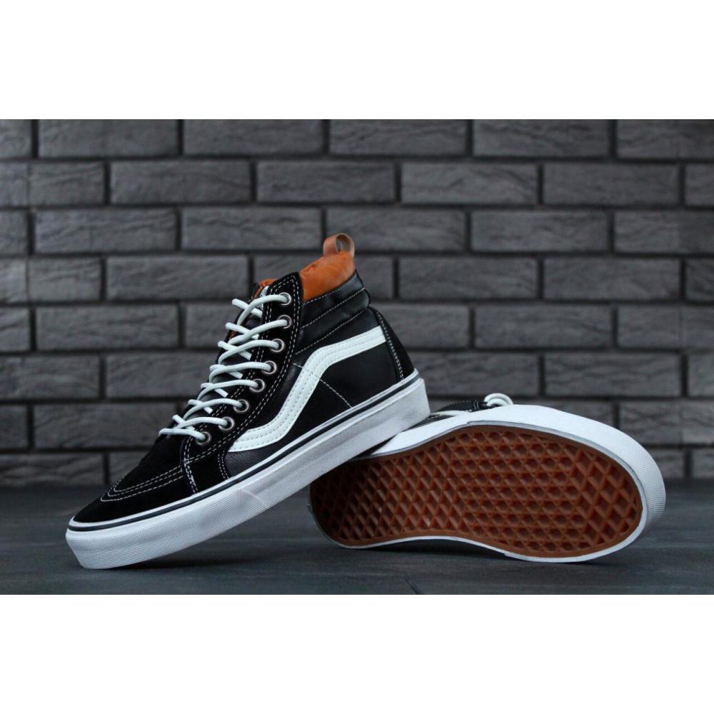 Мужские кеды демисезонные - Кеды Vans SK8 Old Skool Black Leather 1