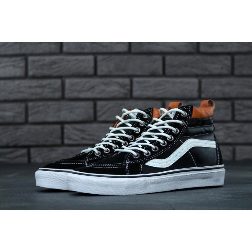 Мужские кеды демисезонные - Кеды Vans SK8 Old Skool Black Leather