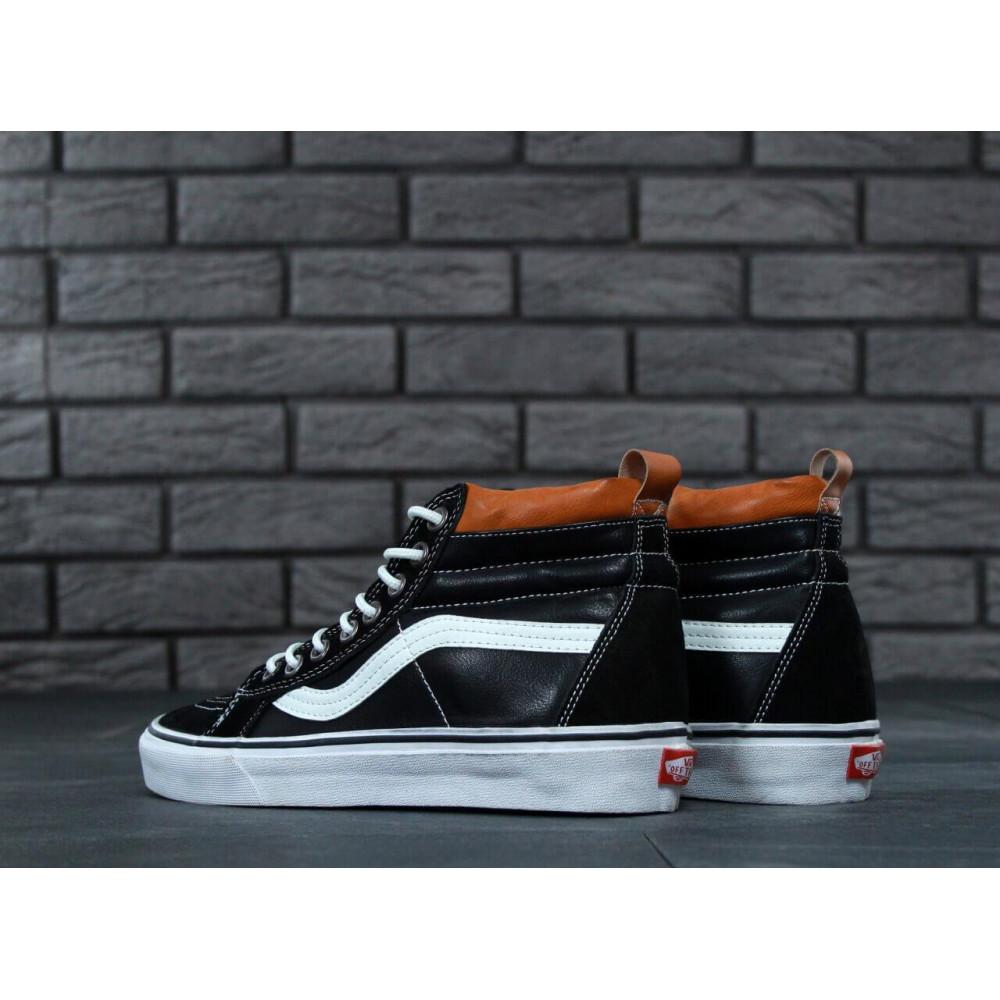 Мужские кеды демисезонные - Кеды Vans SK8 Old Skool Black Leather 2