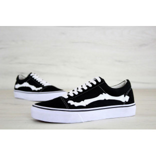Кеды Vans Old School Black White Bones