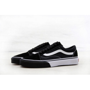 Кеды Vans Old School Black White Cow
