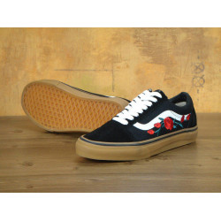 Кеды Vans Old Skool Black White Rose Gum