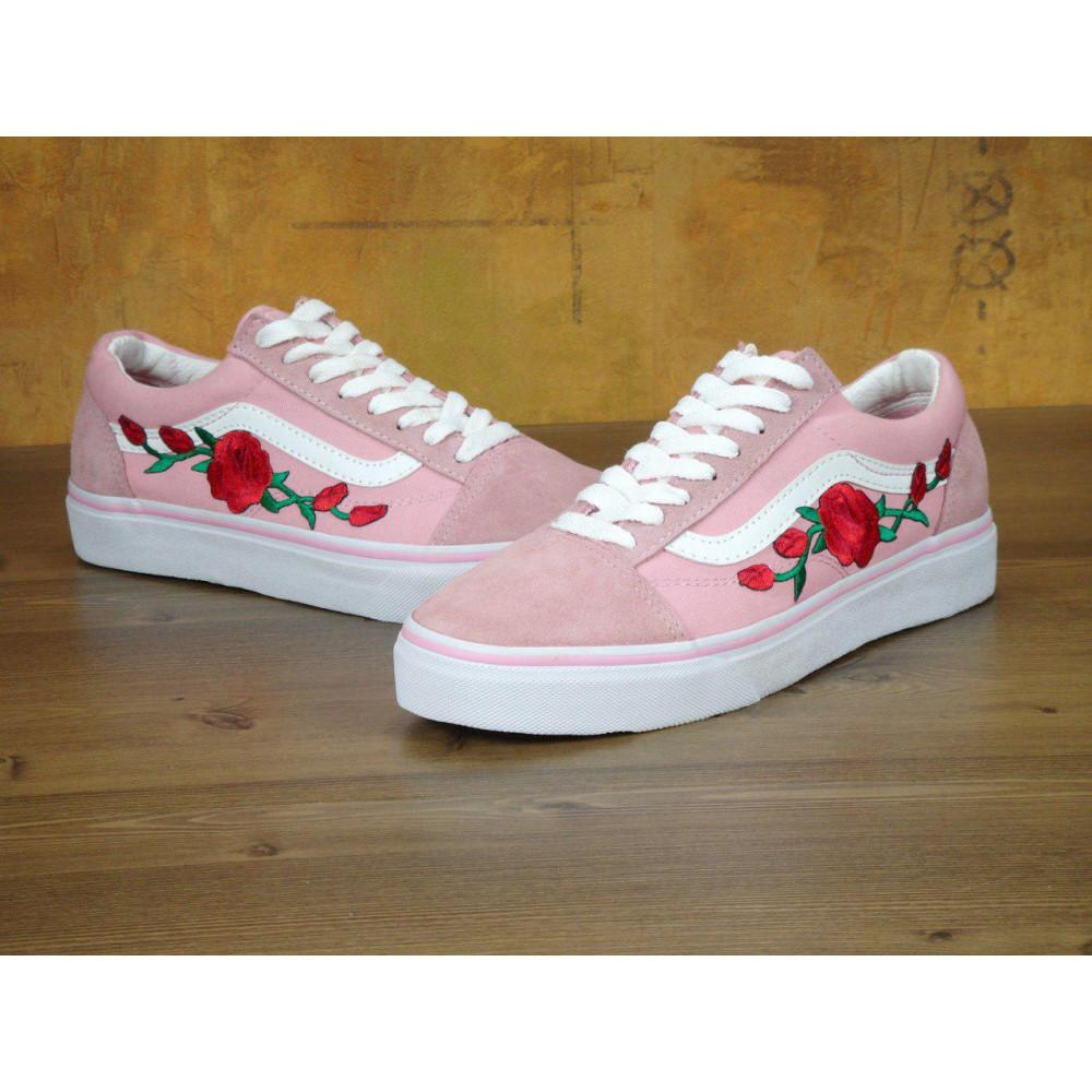 Женские кеды демисезонные - Кеды Vans Old Skool Pink Rose 1