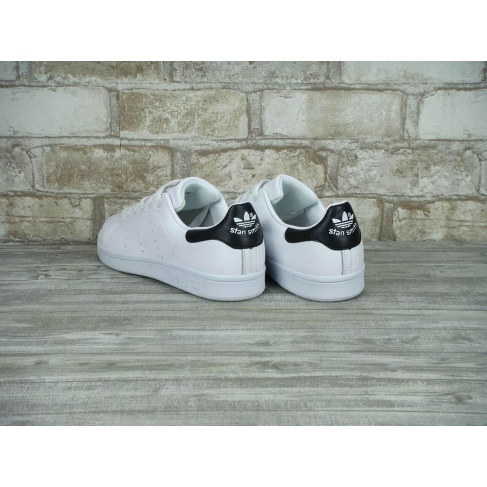 Классические кроссовки мужские - Кроссовки Adidas Stan Smith White Black 1
