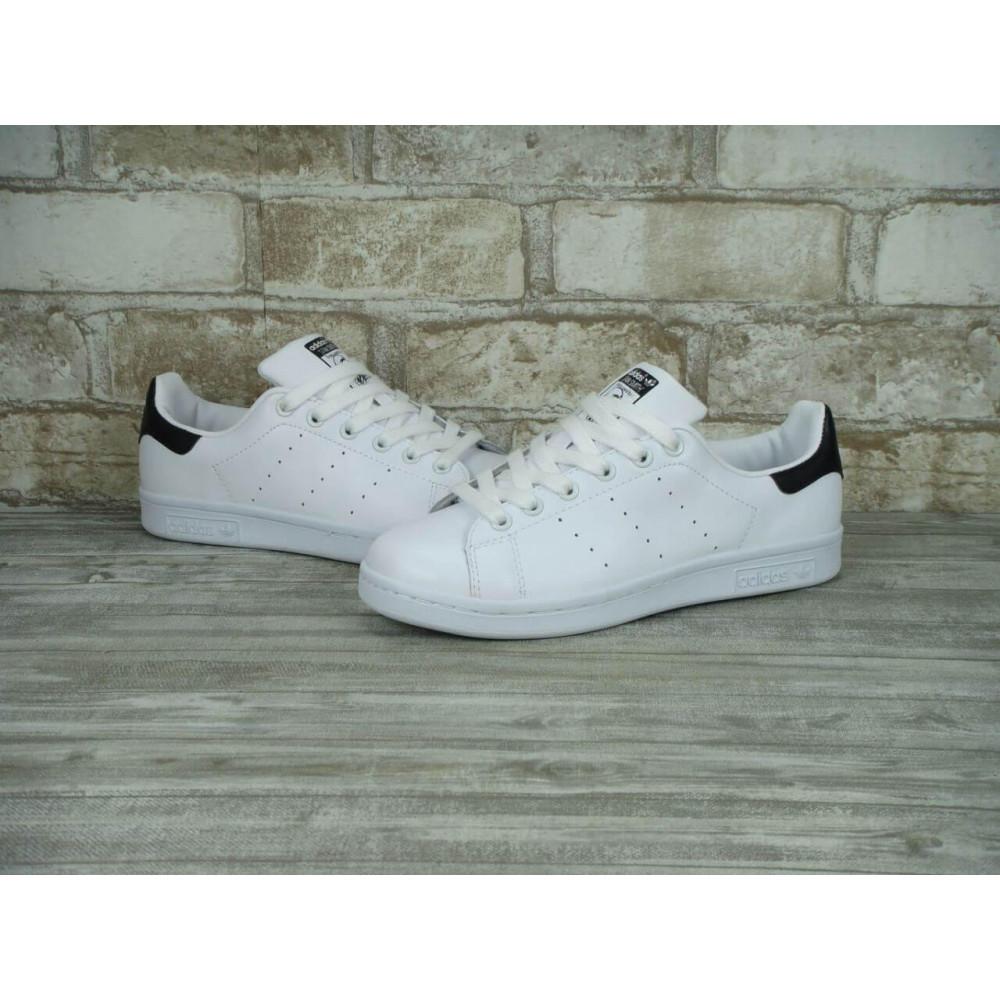 Классические кроссовки мужские - Кроссовки Adidas Stan Smith White Black 6