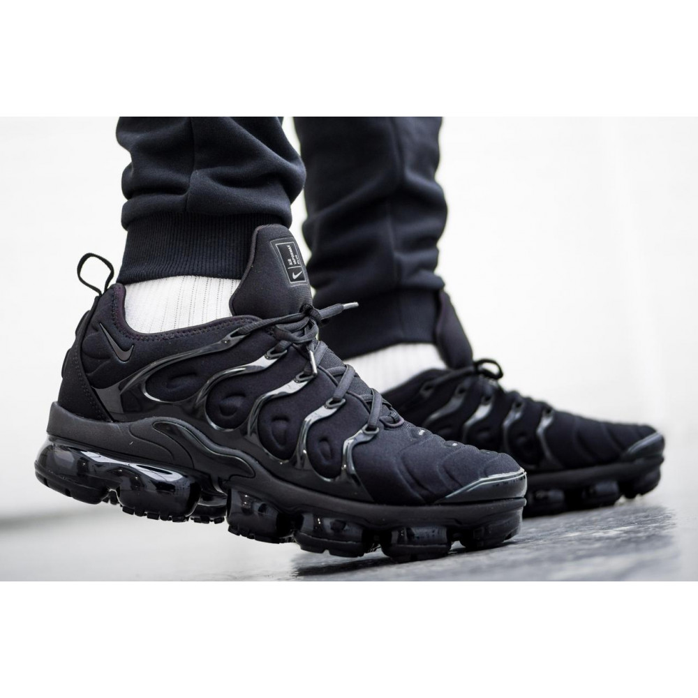 Летние кроссовки мужские - Мужские черные кроссовки Air Vapormax Plus 5