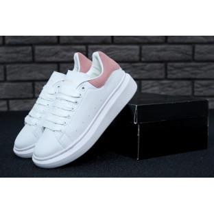 Кроссовки Александр Маквин белые с розовым