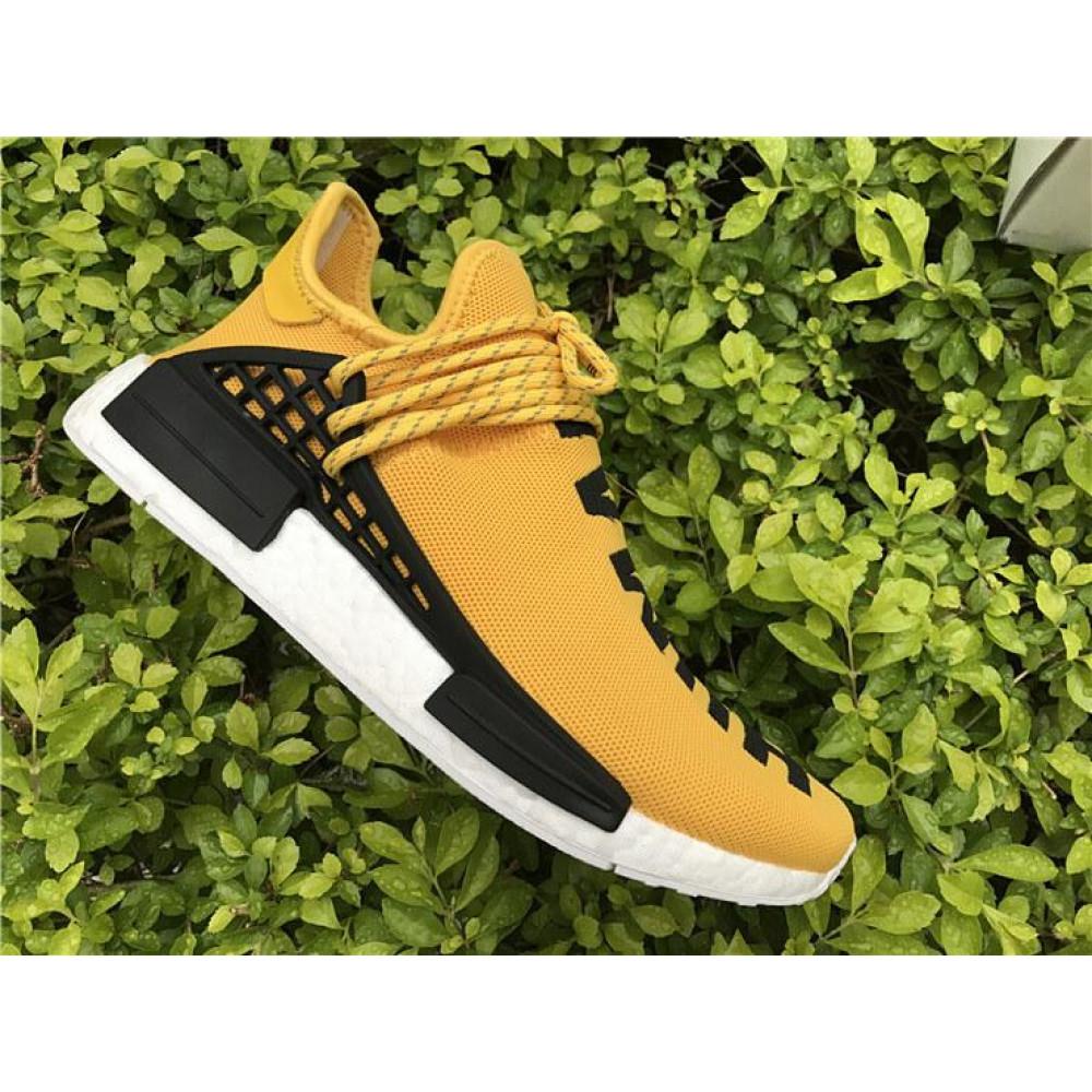Беговые кроссовки мужские  - Кроссовки Adidas Nmd Human Race Men Yellow Black White 6