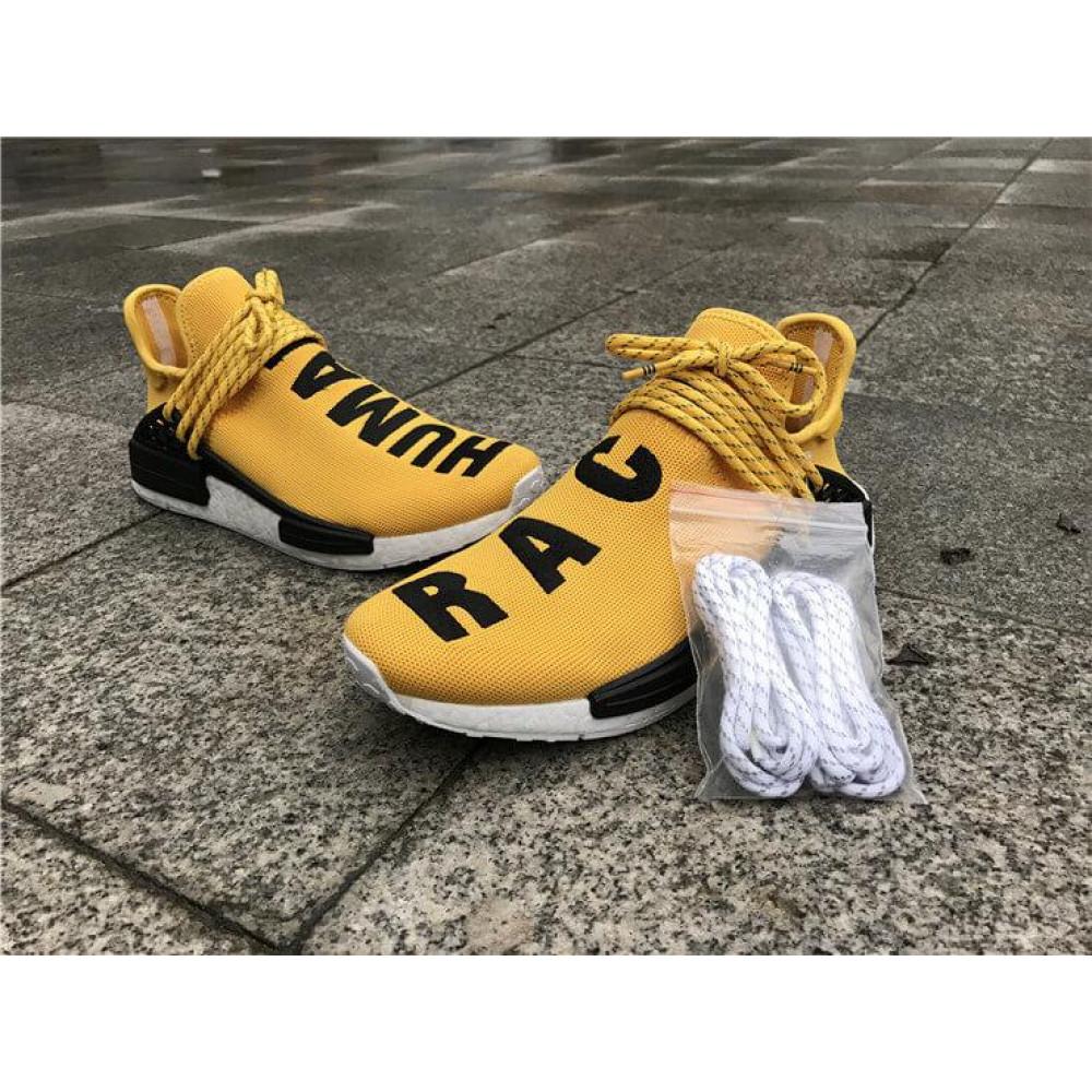 Беговые кроссовки мужские  - Кроссовки Adidas Nmd Human Race Men Yellow Black White 5