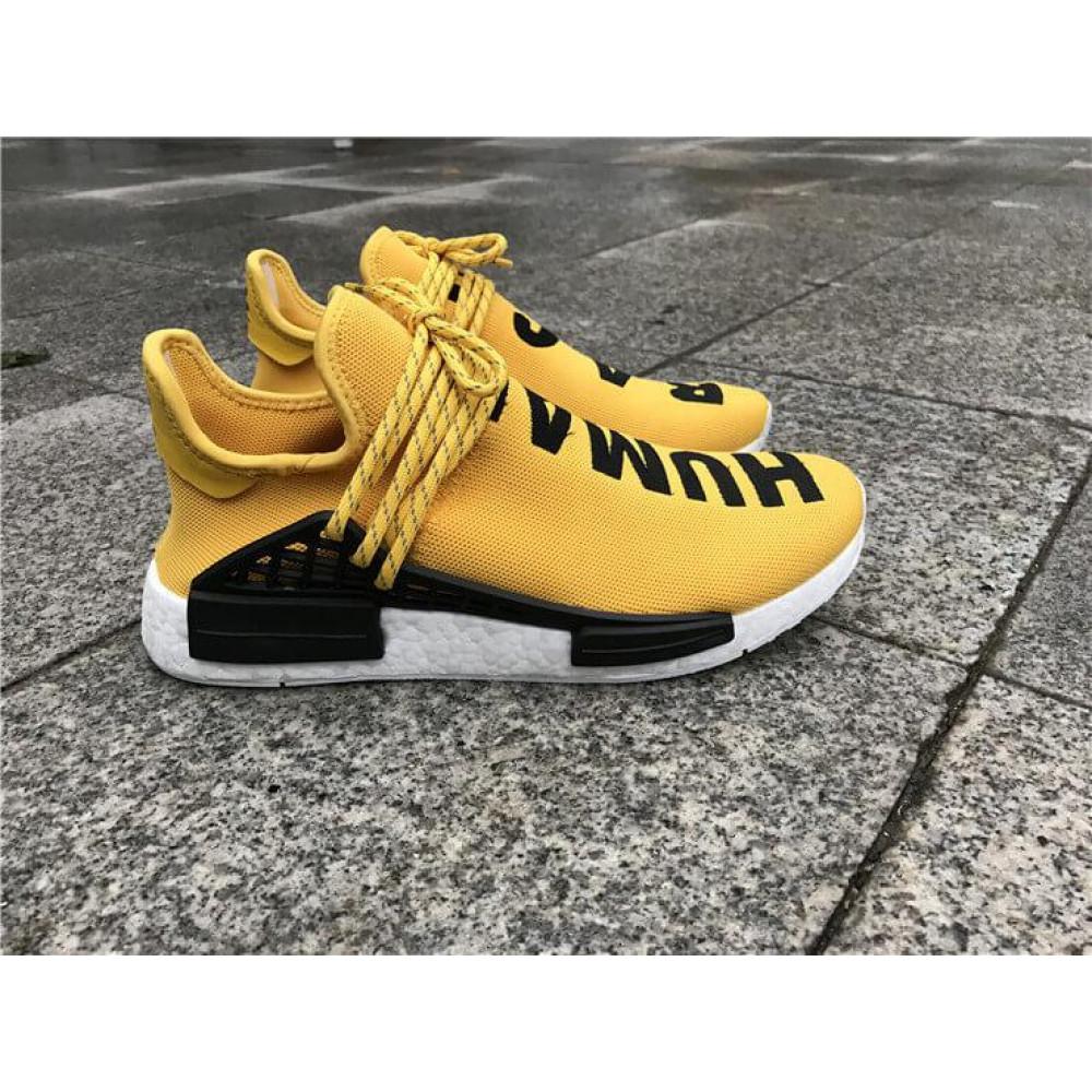 Беговые кроссовки мужские  - Кроссовки Adidas Nmd Human Race Men Yellow Black White 4