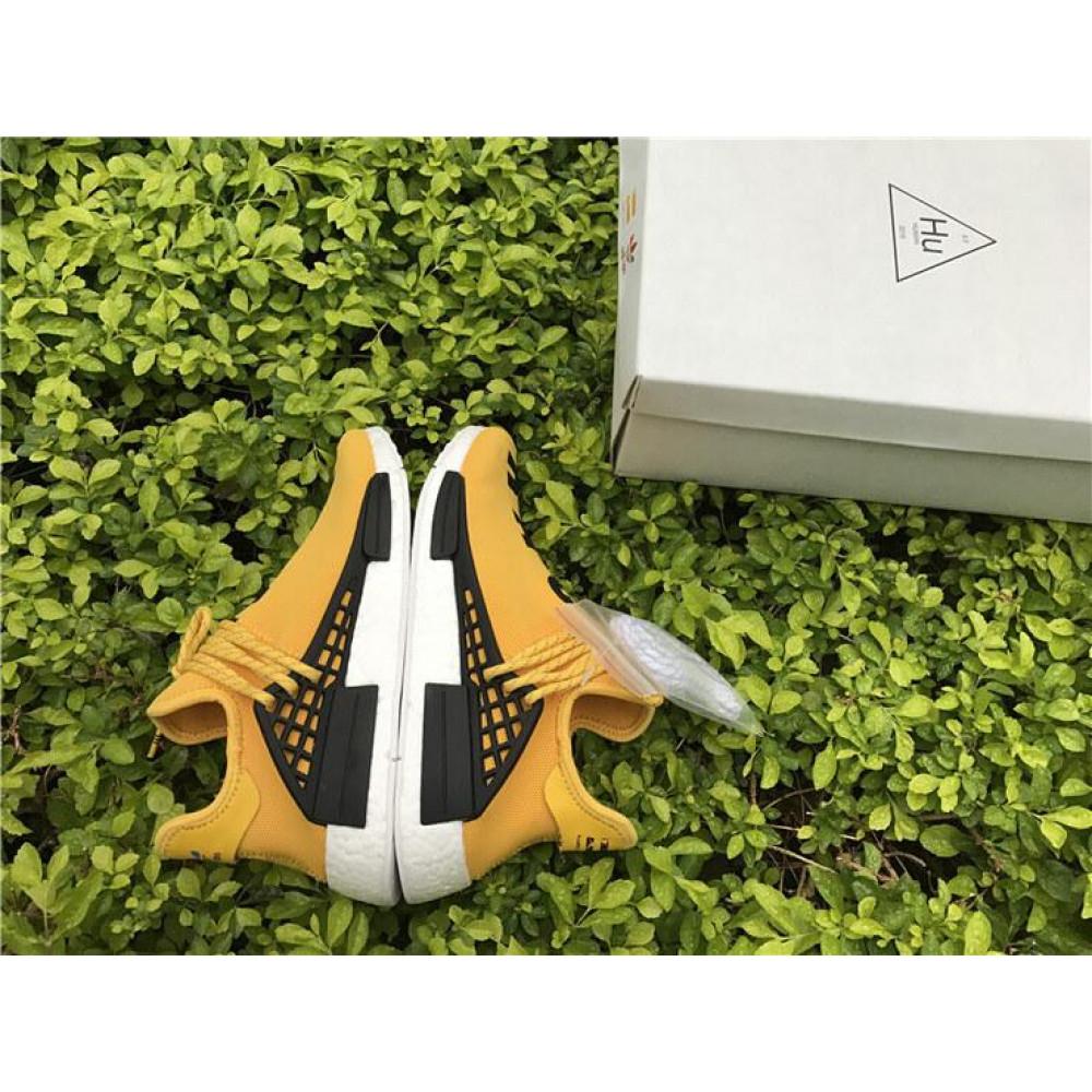 Беговые кроссовки мужские  - Кроссовки Adidas Nmd Human Race Men Yellow Black White 3