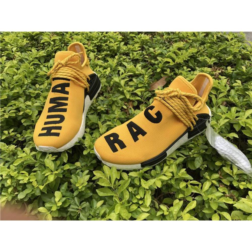 Беговые кроссовки мужские  - Кроссовки Adidas Nmd Human Race Men Yellow Black White 2