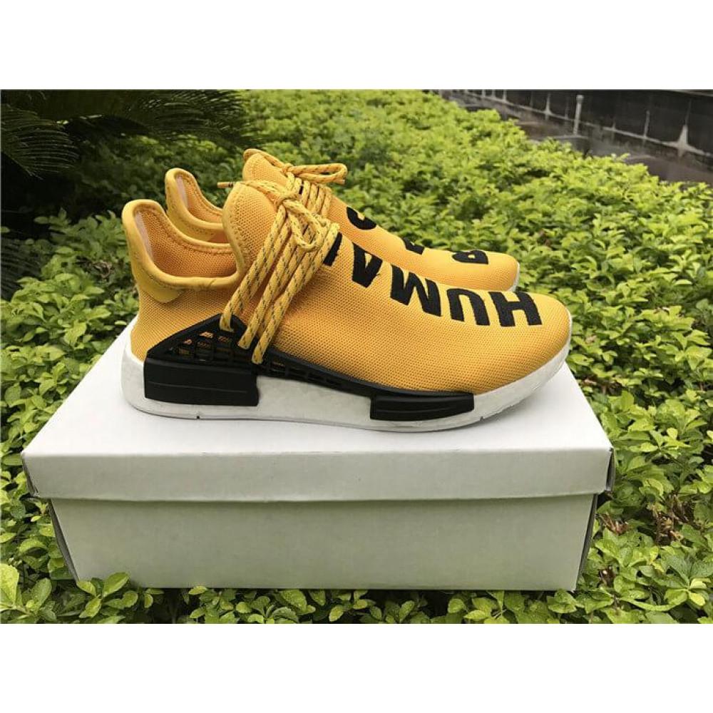 Беговые кроссовки мужские  - Кроссовки Adidas Nmd Human Race Men Yellow Black White 1