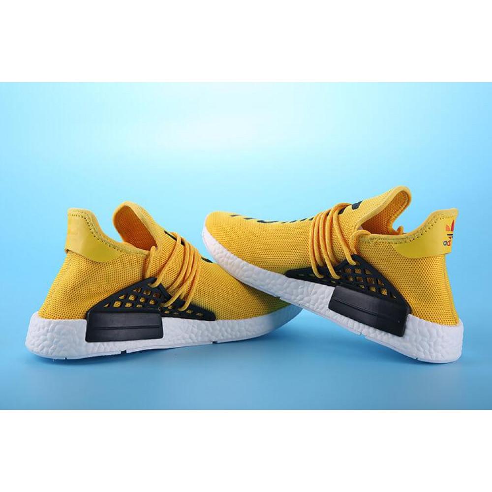 Беговые кроссовки мужские  - Кроссовки Adidas Nmd Human Race Men Yellow Black White 7