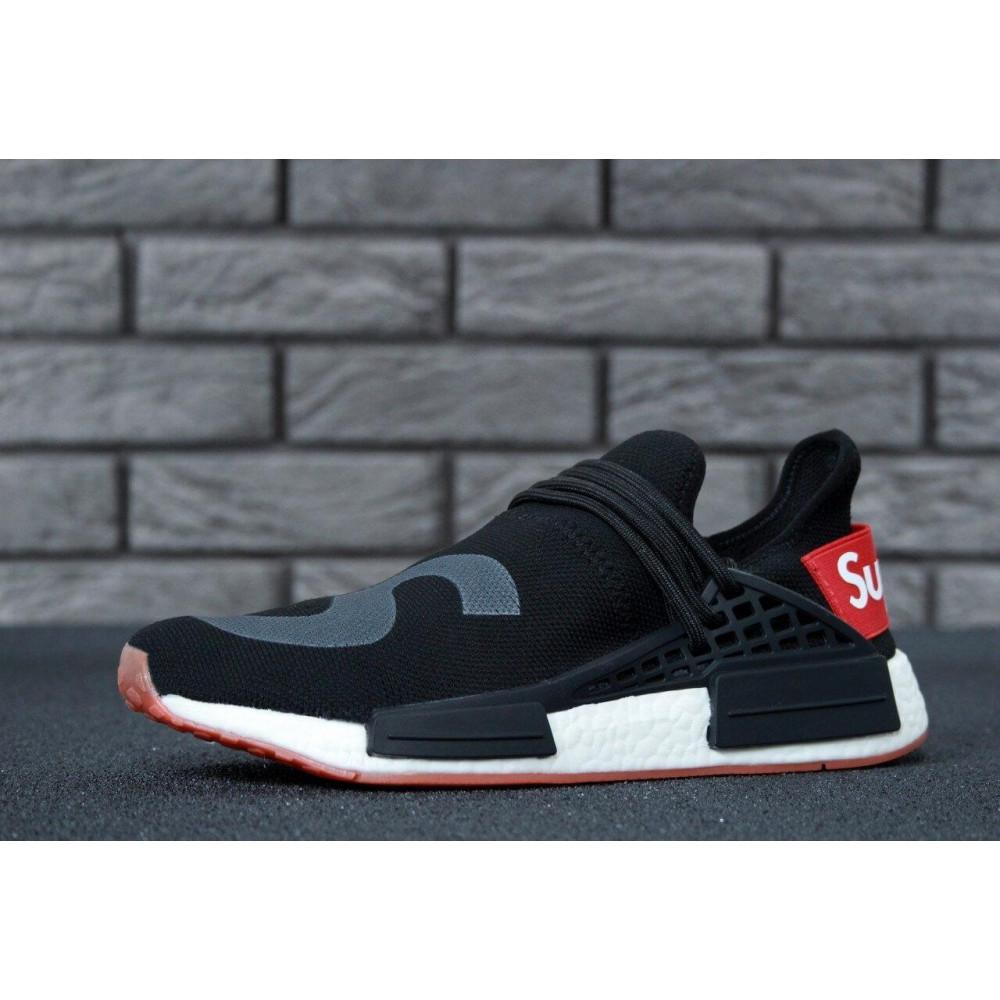 Беговые кроссовки мужские  - Кроссовки Adidas NMD Human Race Supreme Black Grey 1