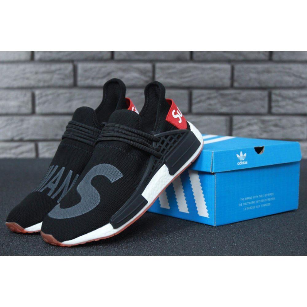 Беговые кроссовки мужские  - Кроссовки Adidas NMD Human Race Supreme Black Grey