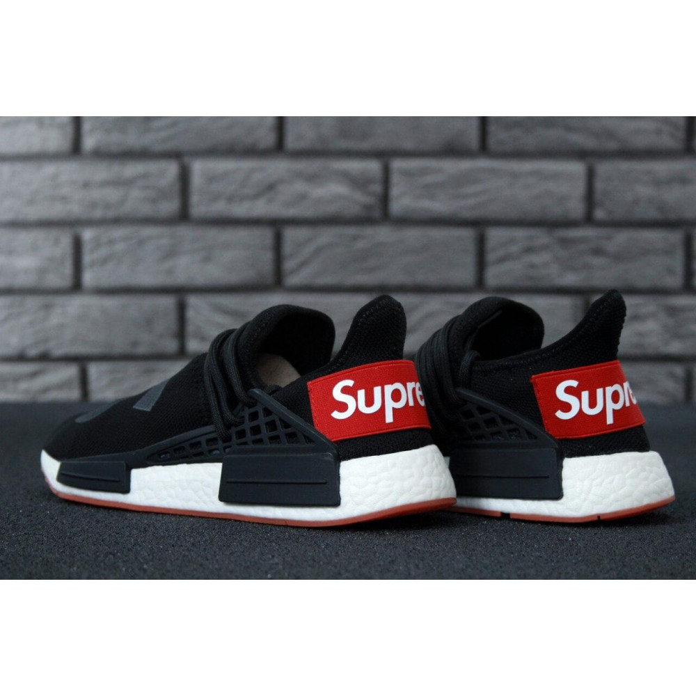 Беговые кроссовки мужские  - Кроссовки Adidas NMD Human Race Supreme Black Grey 3
